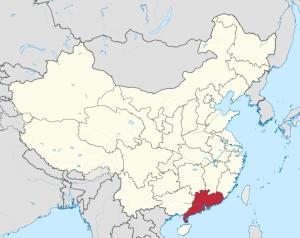 Map of Guangdong